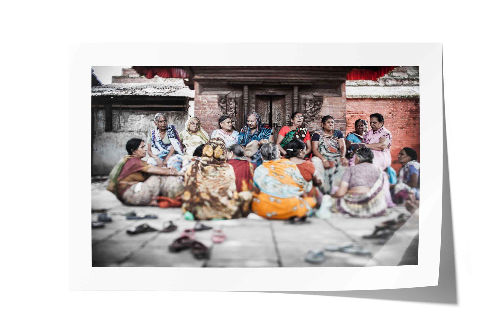 Street Art Image, Close to Durbar Square, Kathmandu Nepal